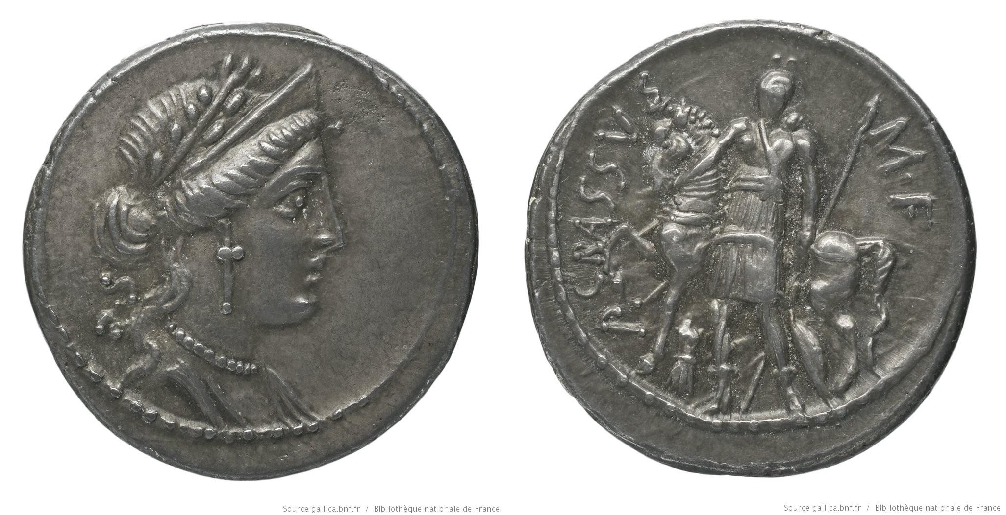 1407LI – Denier Licinia – Publius Licinius Crassus