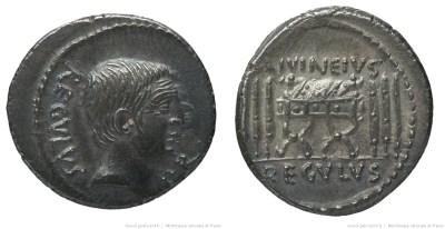 1605LI – Denier Livineia – Lucius Livineius Regulus