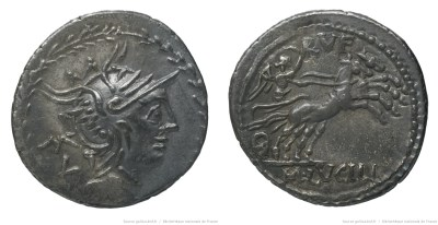 1158LU – Denier Lucilia – Marcus Lucilius Rufus