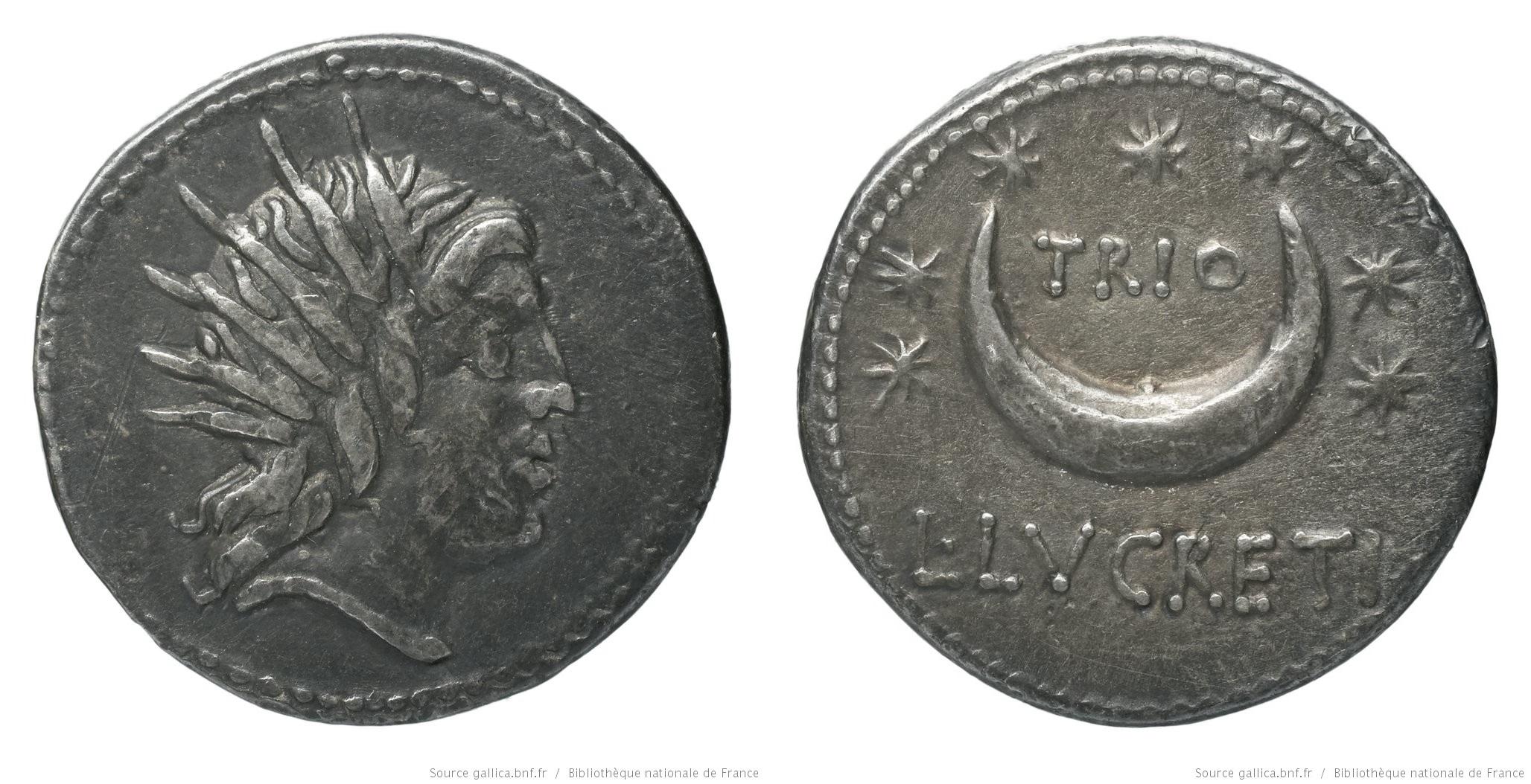 1327LU – Denier Lucretia – Lucius Lucretius Trio