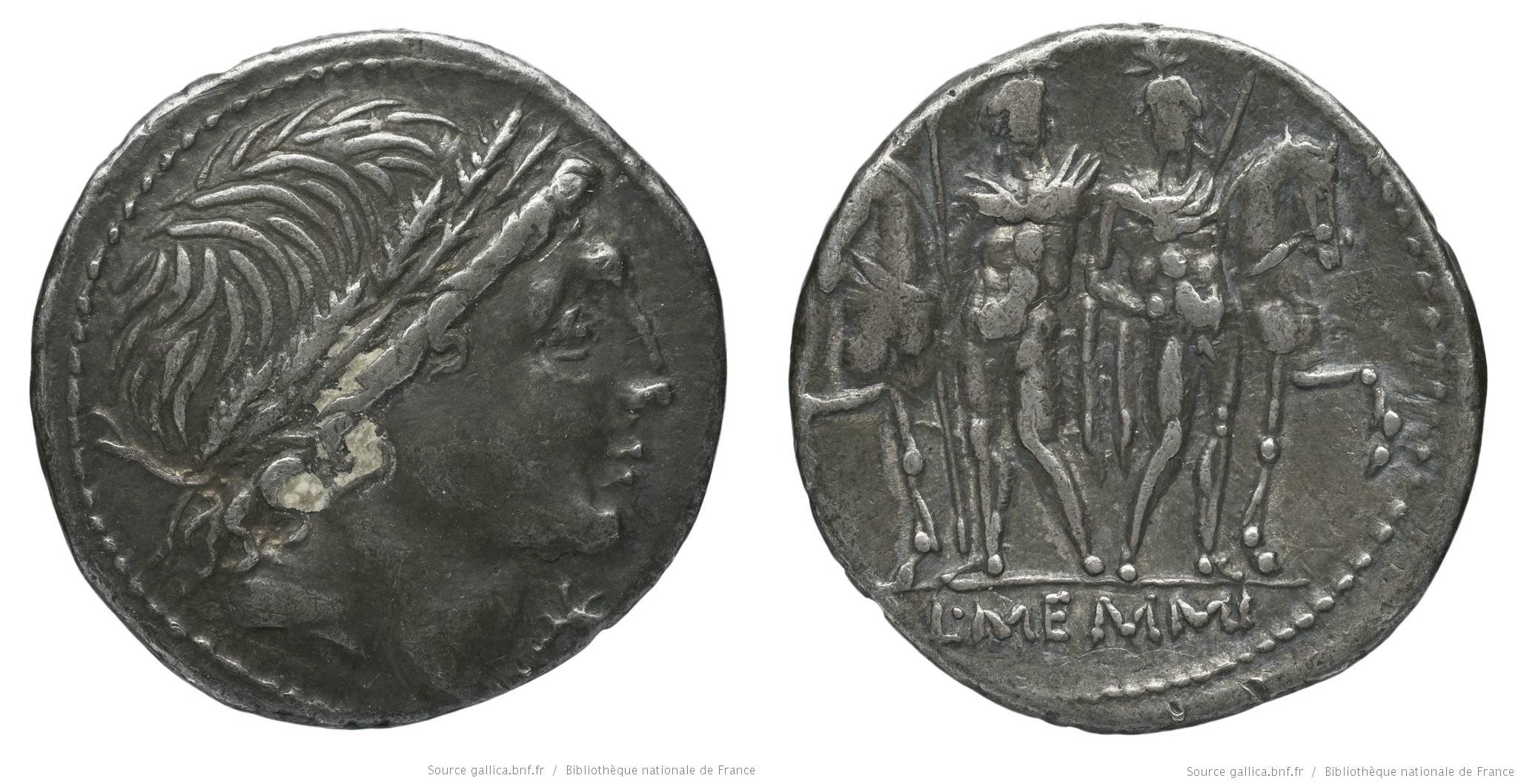 1119ME – Denier Memmia –  Lucius Memmius
