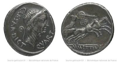 1525JU – Denier César – Marcus Mettius