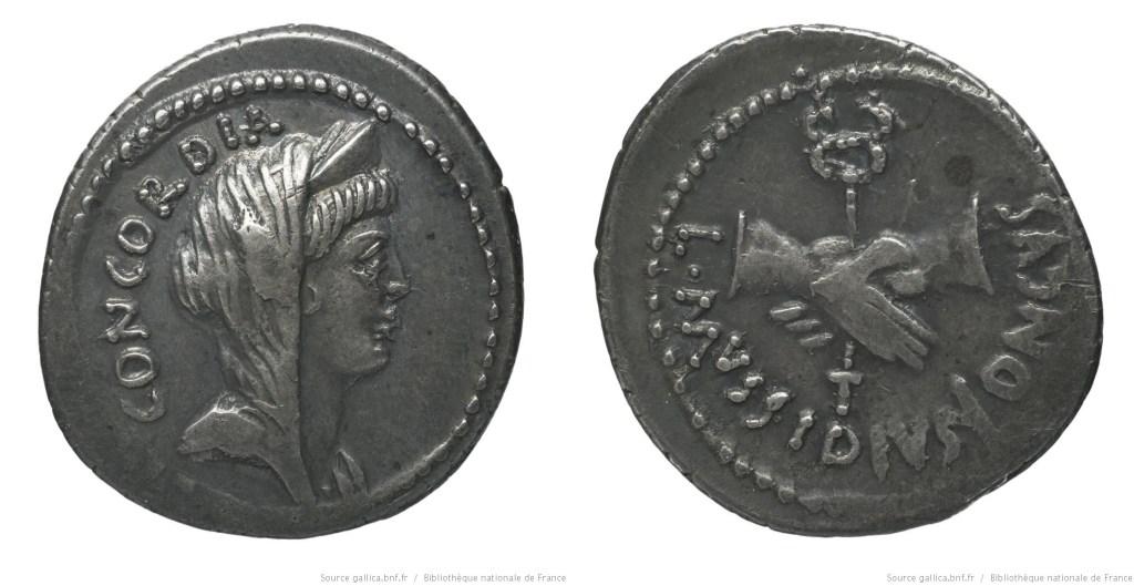 1619MU – Denier Mussidia – Lucius Mussidius Longus