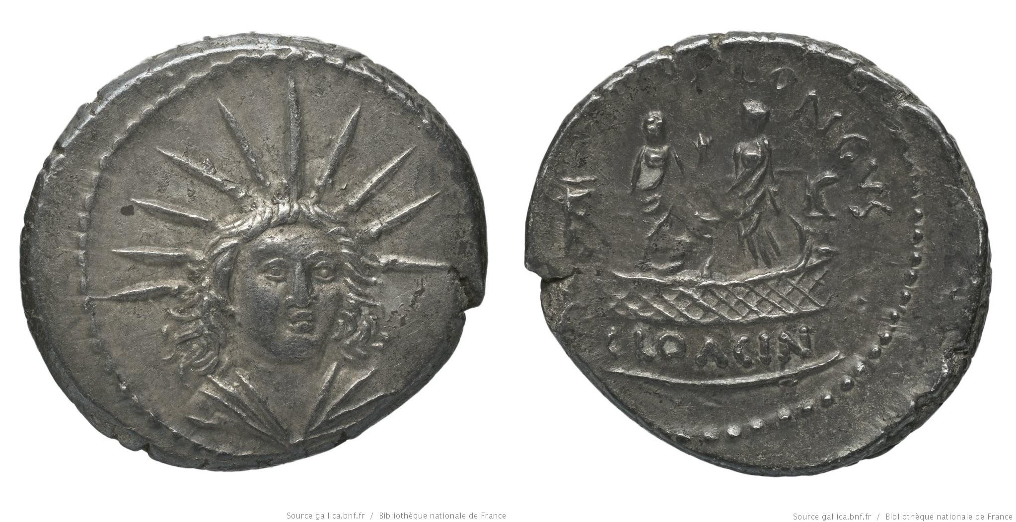 1621MU – Denier Mussidia – Lucius Mussidius Longus
