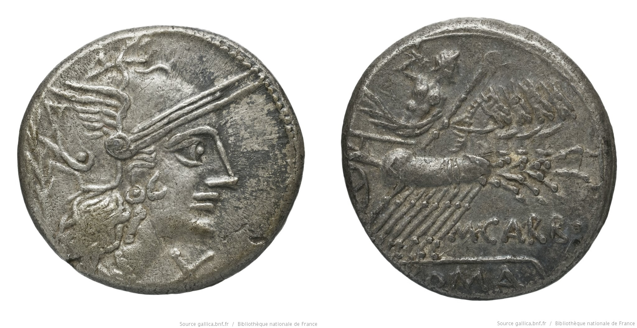 1058PA – Denier Papiria – Marcus Papirius Carbo