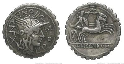 1070PO – Denier Serratus Pomponia – Lucius Pomponius