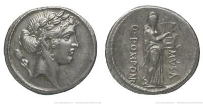 1366PO – Denier Pomponia – Quintus Pomponius Musa