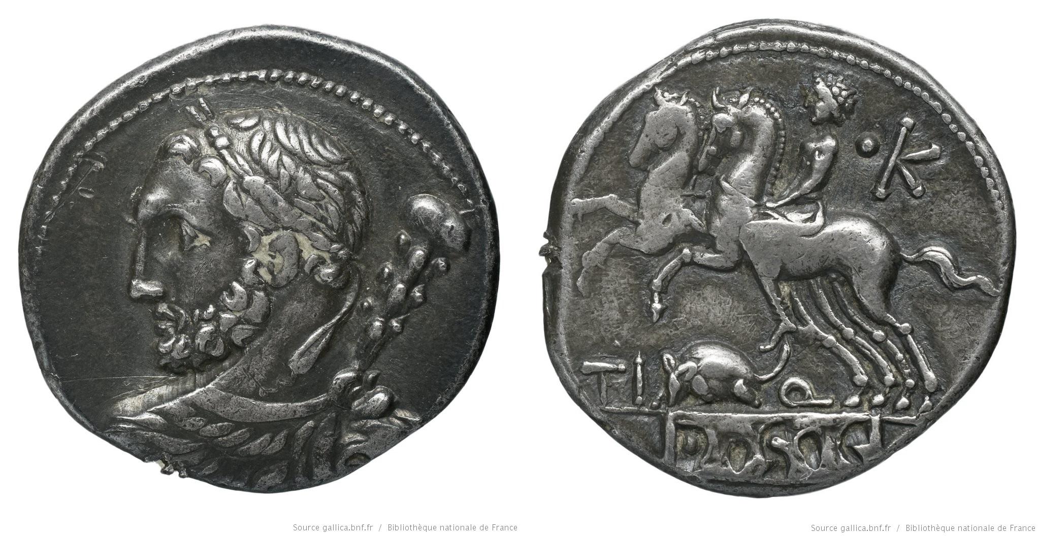 1111QU – Denier Quinctia – Tiberius Quinctius