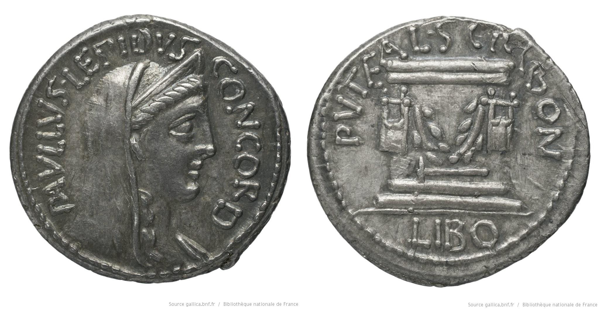 1377AE – Denier Aemilia – Lucius Æmilius Lepidus Paullus
