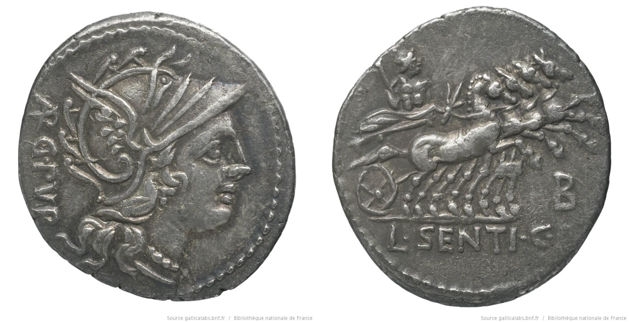 1159SE – Denier Sentia – Lucius Sentius