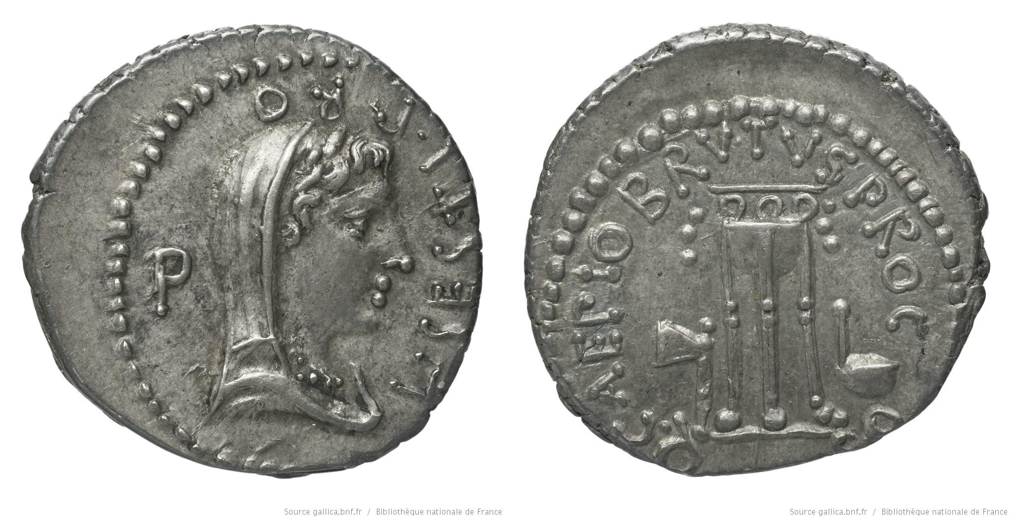 1642JU – Denier Brutus – Lucius Sestius Quirinalis