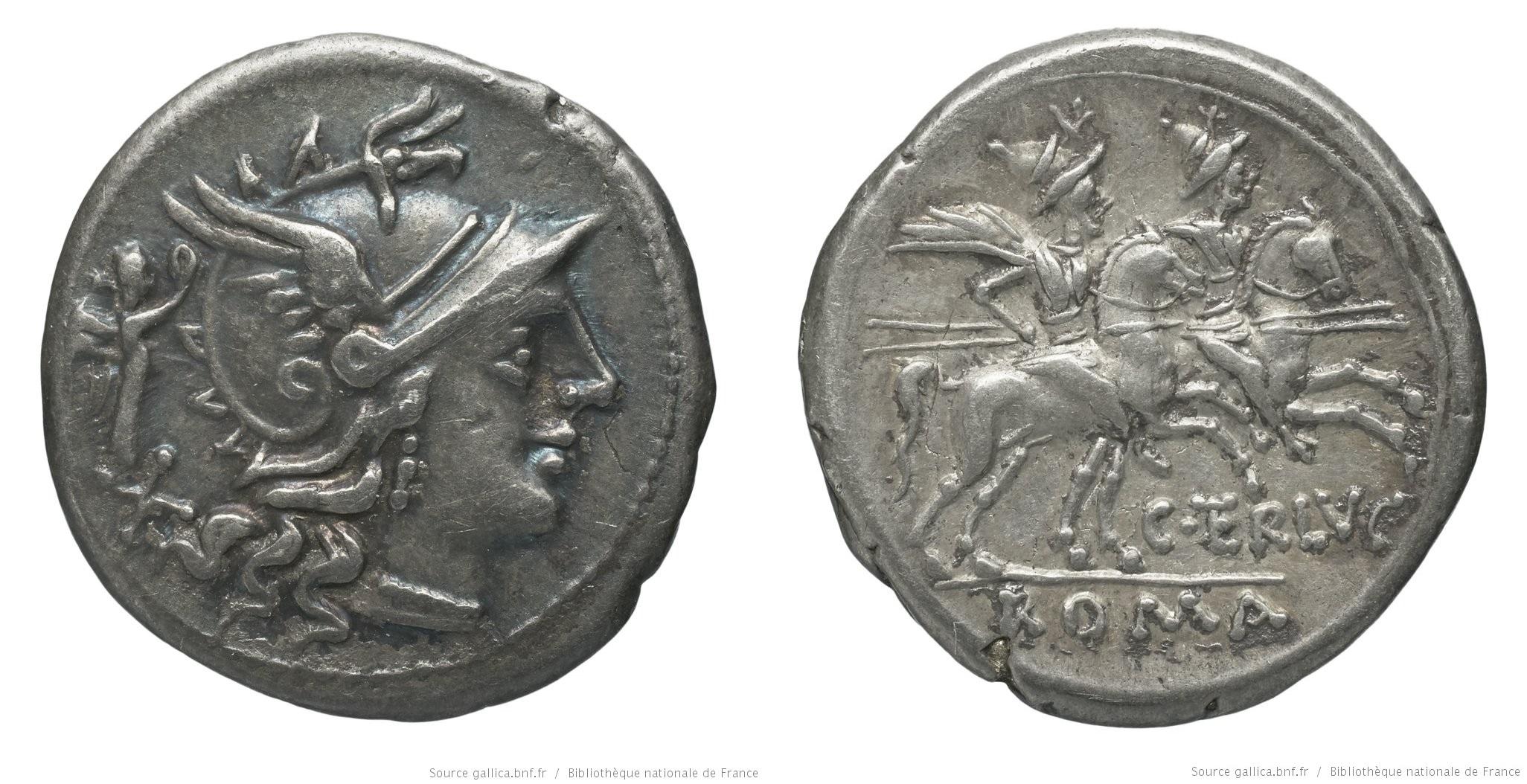 884TE – Denier Terentia – Caius Terentius Lucanus