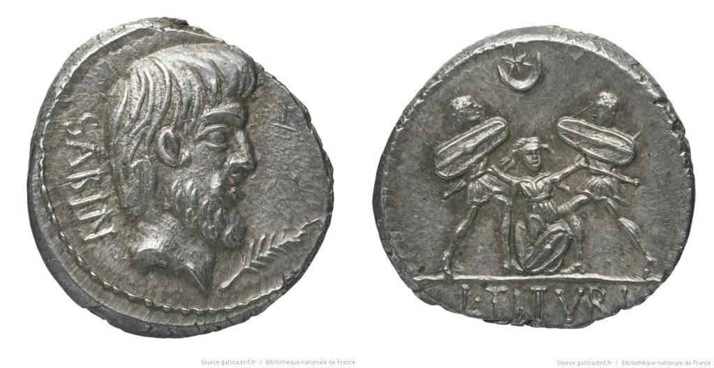 1233TI – Denier Tituria – Lucius Titurius Sabinus
