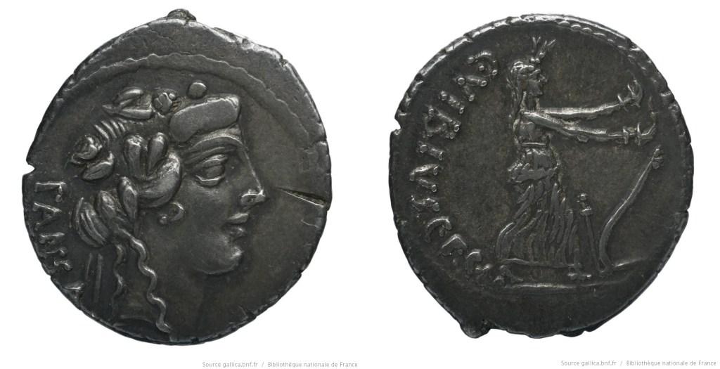 1435VI – Denier Vibia – Caius Vibius Pansa