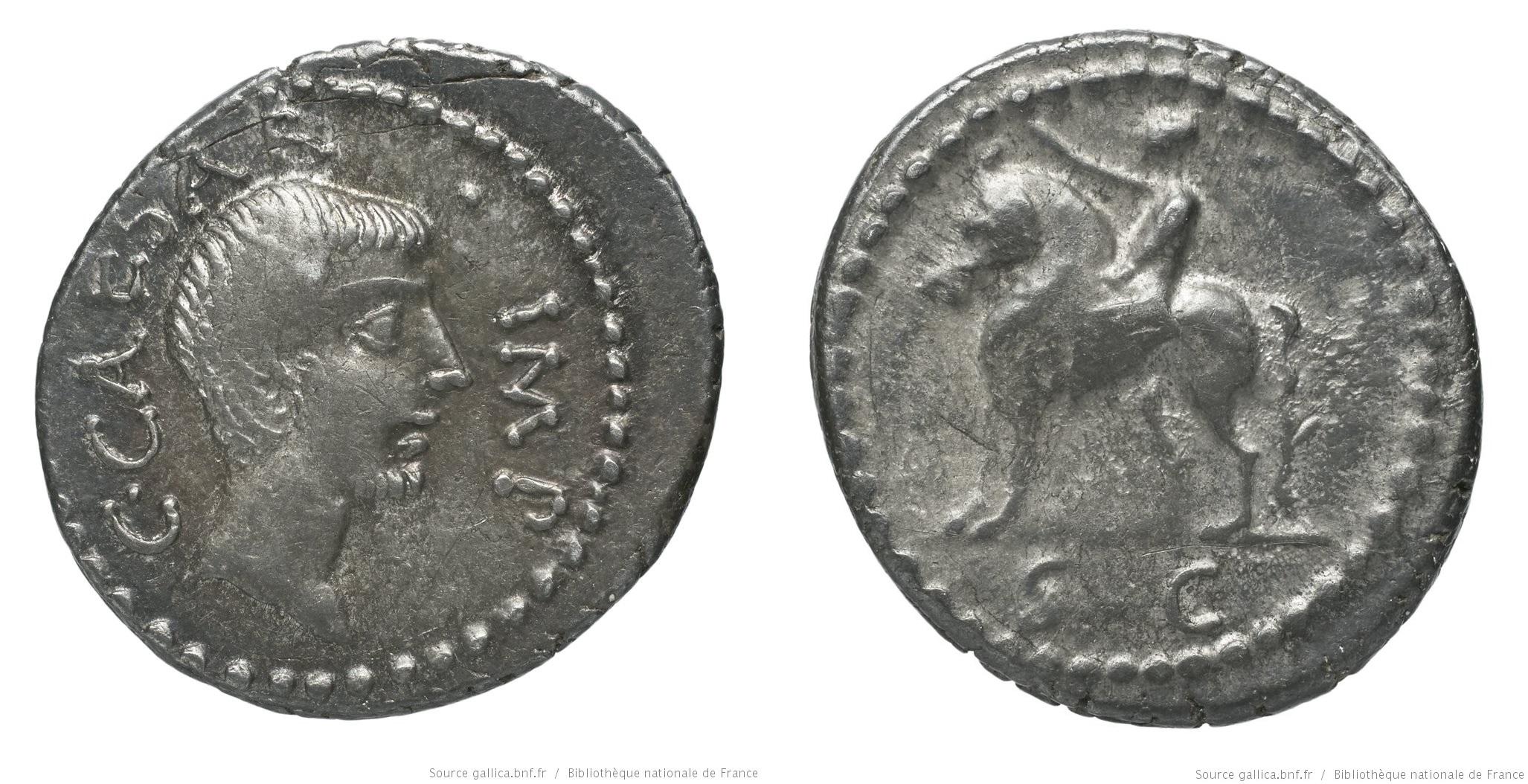 1570JU – Denier Octave – Caius Julius Cæsar Octavianus