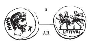 Denier Tituria _ RRC 344/1a