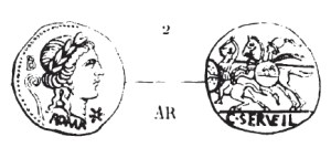 Denier Servilia _ RRC 370/1