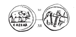 Denier César _ RRC 443/1
