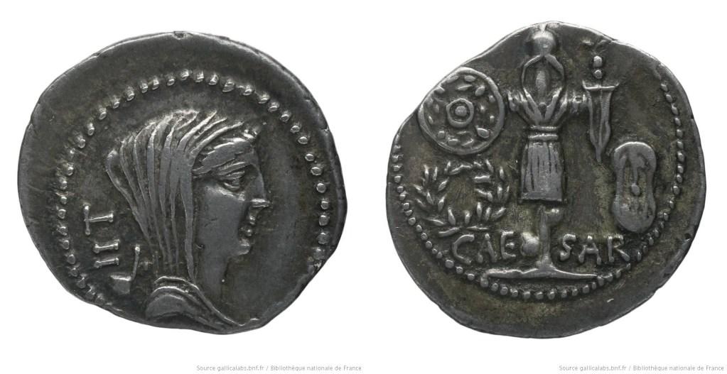 1445JU – Quinaire César – Caius Julius Cæsar