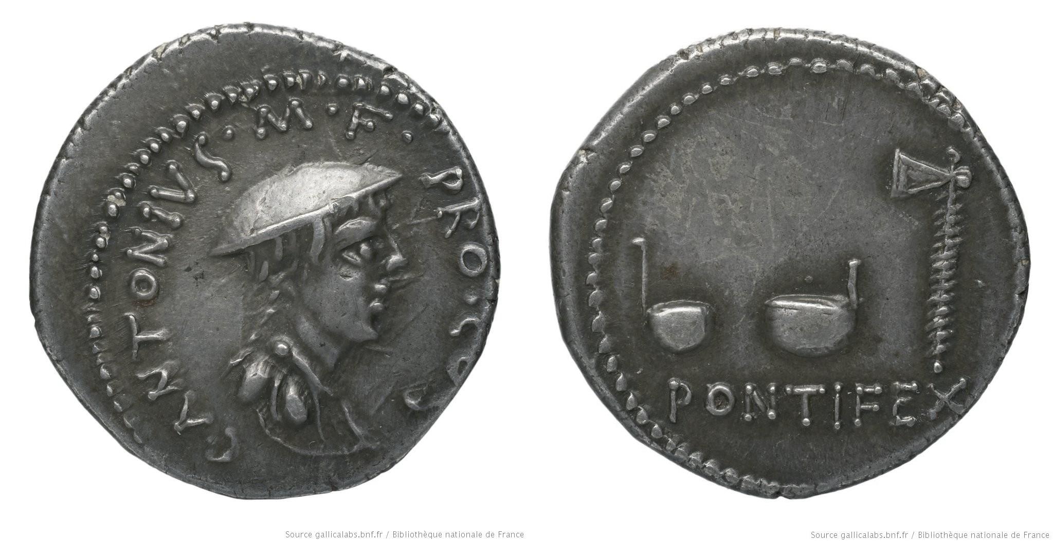 1554AN – Denier Antonia – Caius Antonius