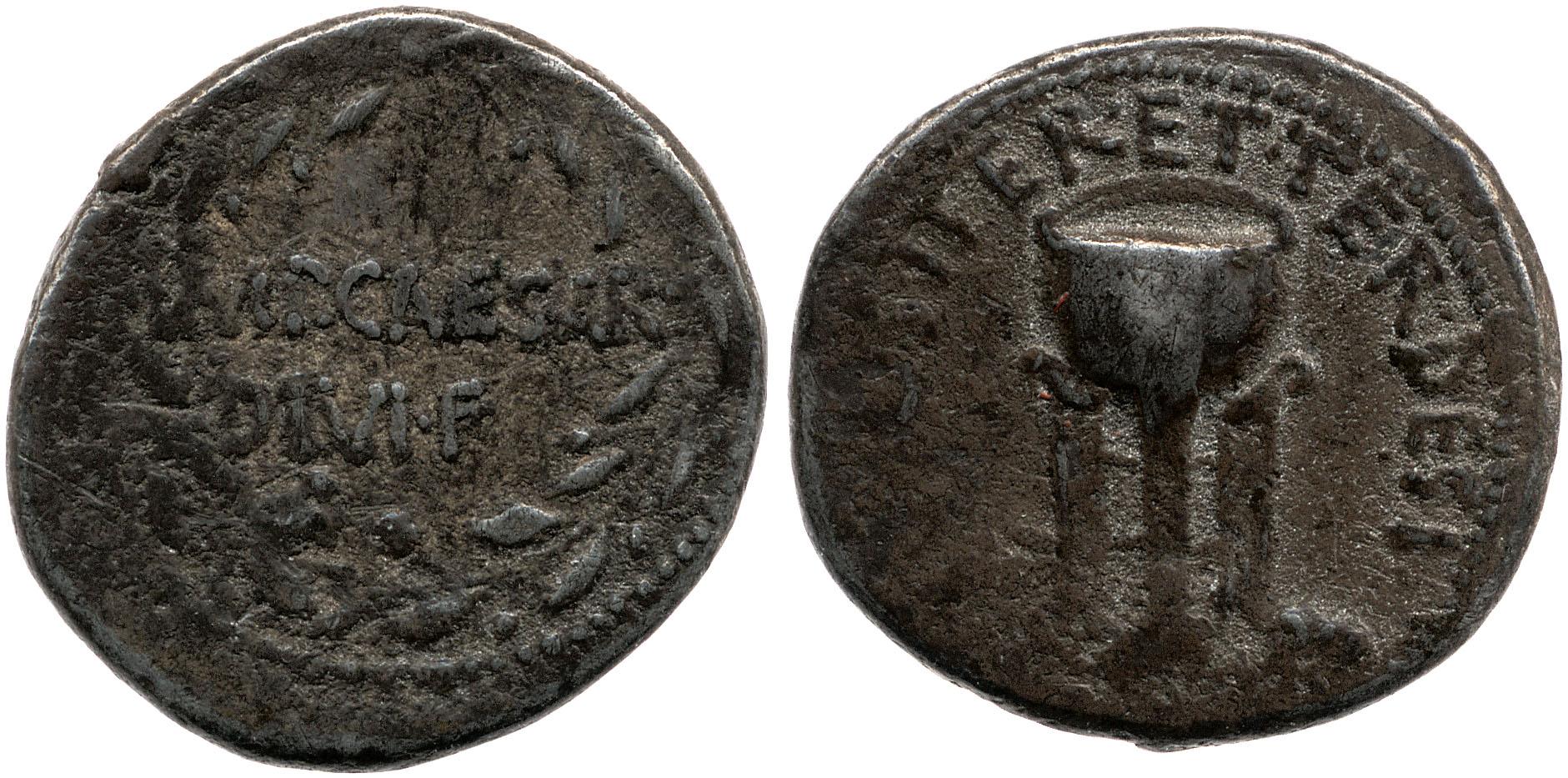 1740JU – Denier Octave – Caius Julius Cæsar Octavianus