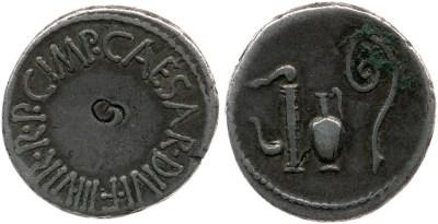1739JU – Denier Octave – Caius Julius Cæsar Octavianus