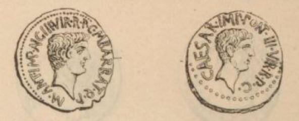 Aureus Marc Antoine et Octave _ RRC 517/1a