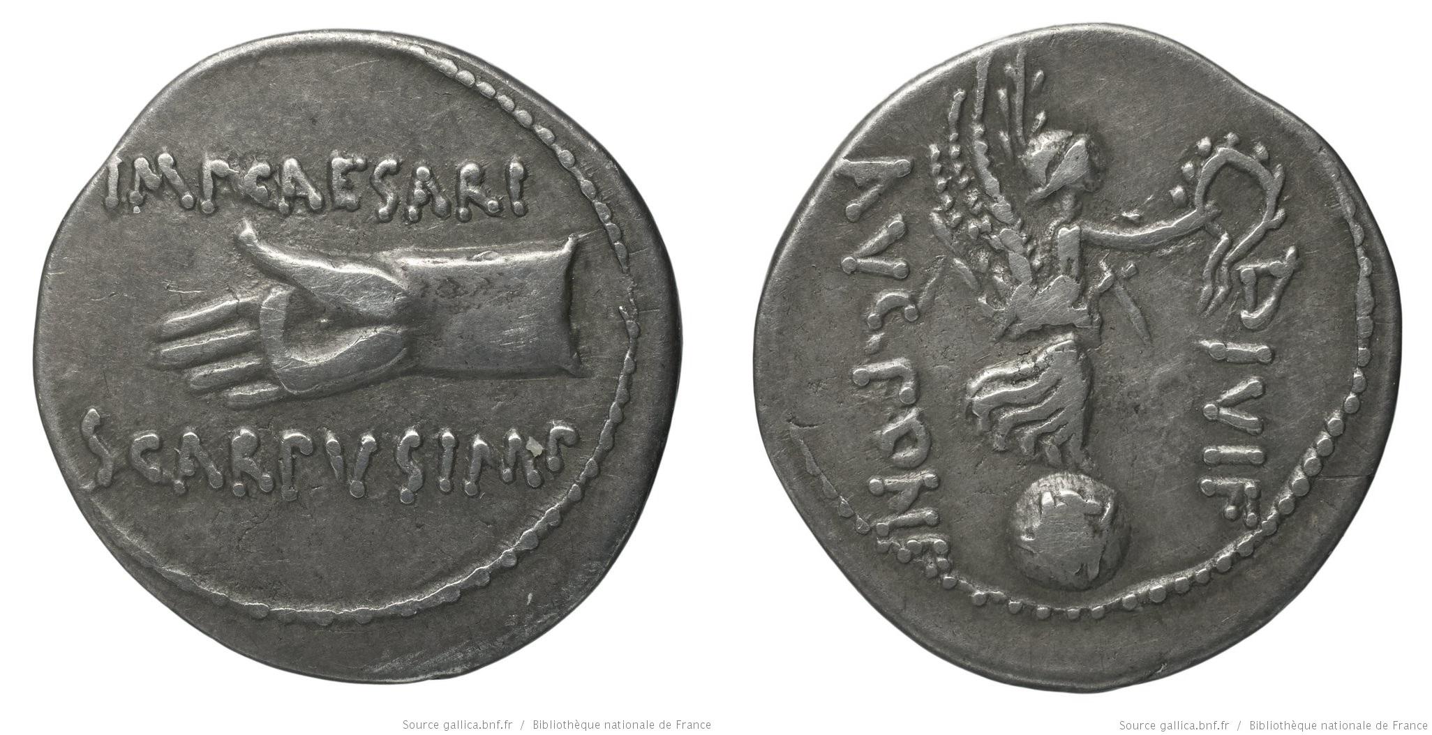 1804PI – Denier Octave – Lucius Pinarius Scarpus