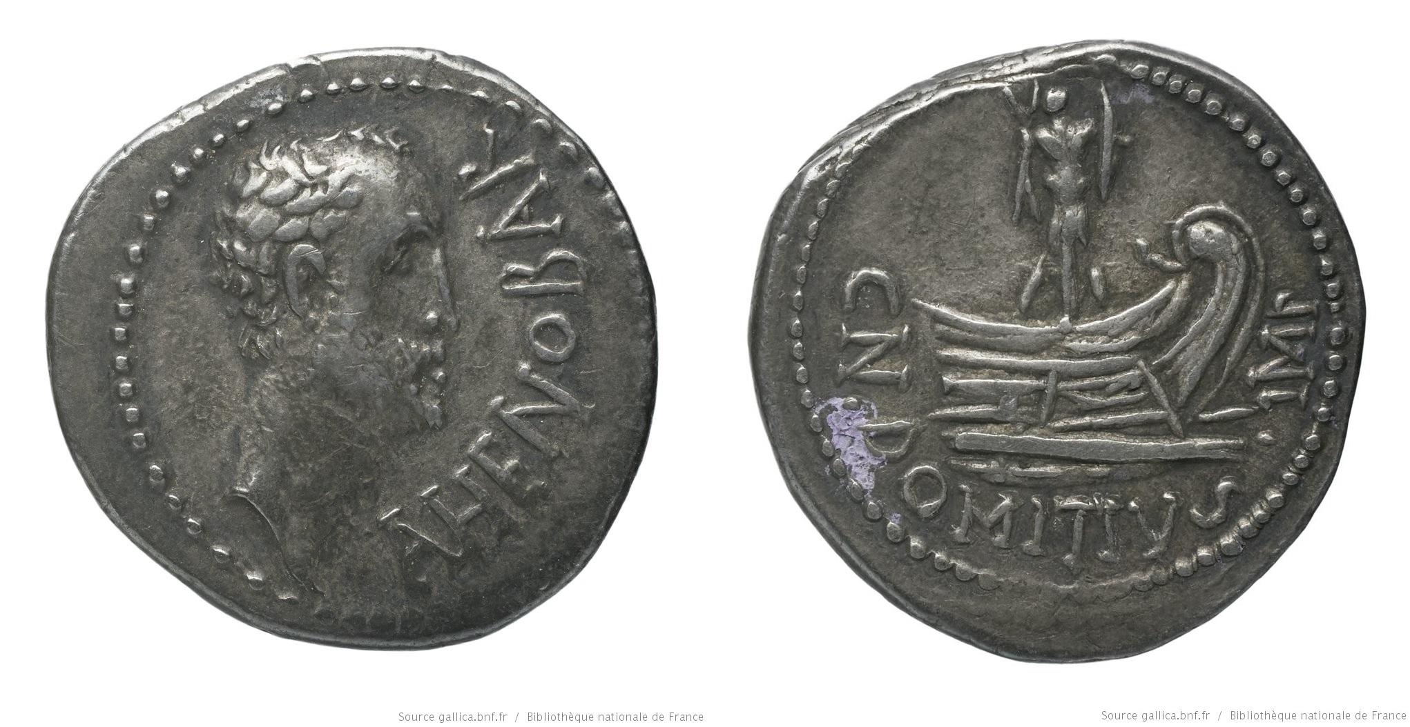 1697DO – Denier Domitia _ Domitius Ahenobarbus