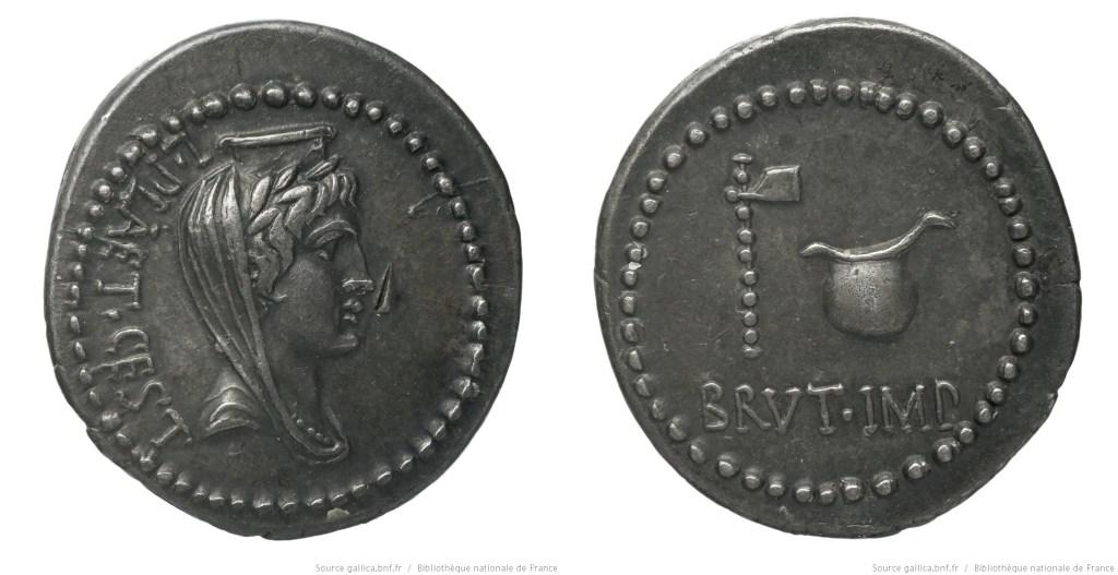 1658JU – Denier Brutus _ L. Plaetorius Cestianus