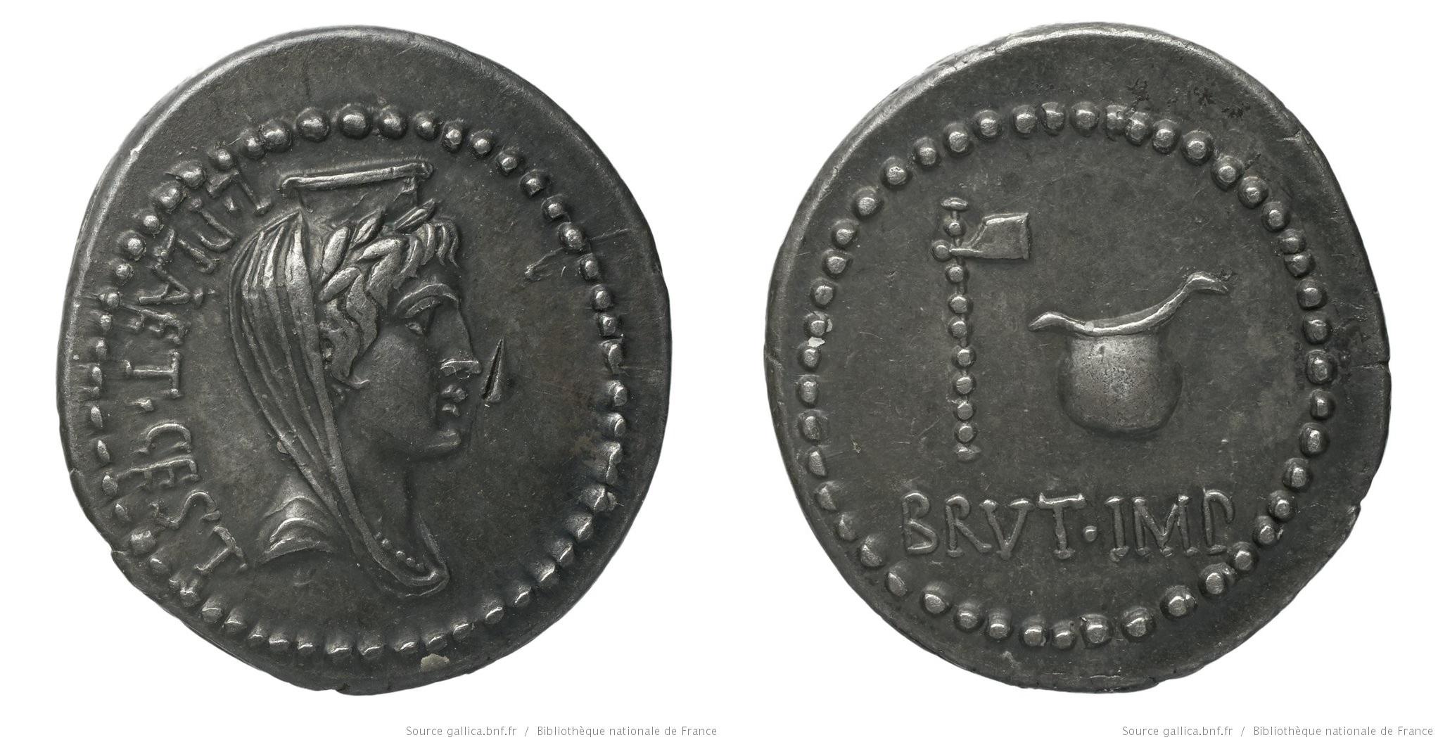 You are currently viewing 1658JU – Denier Brutus _ L. Plaetorius Cestianus