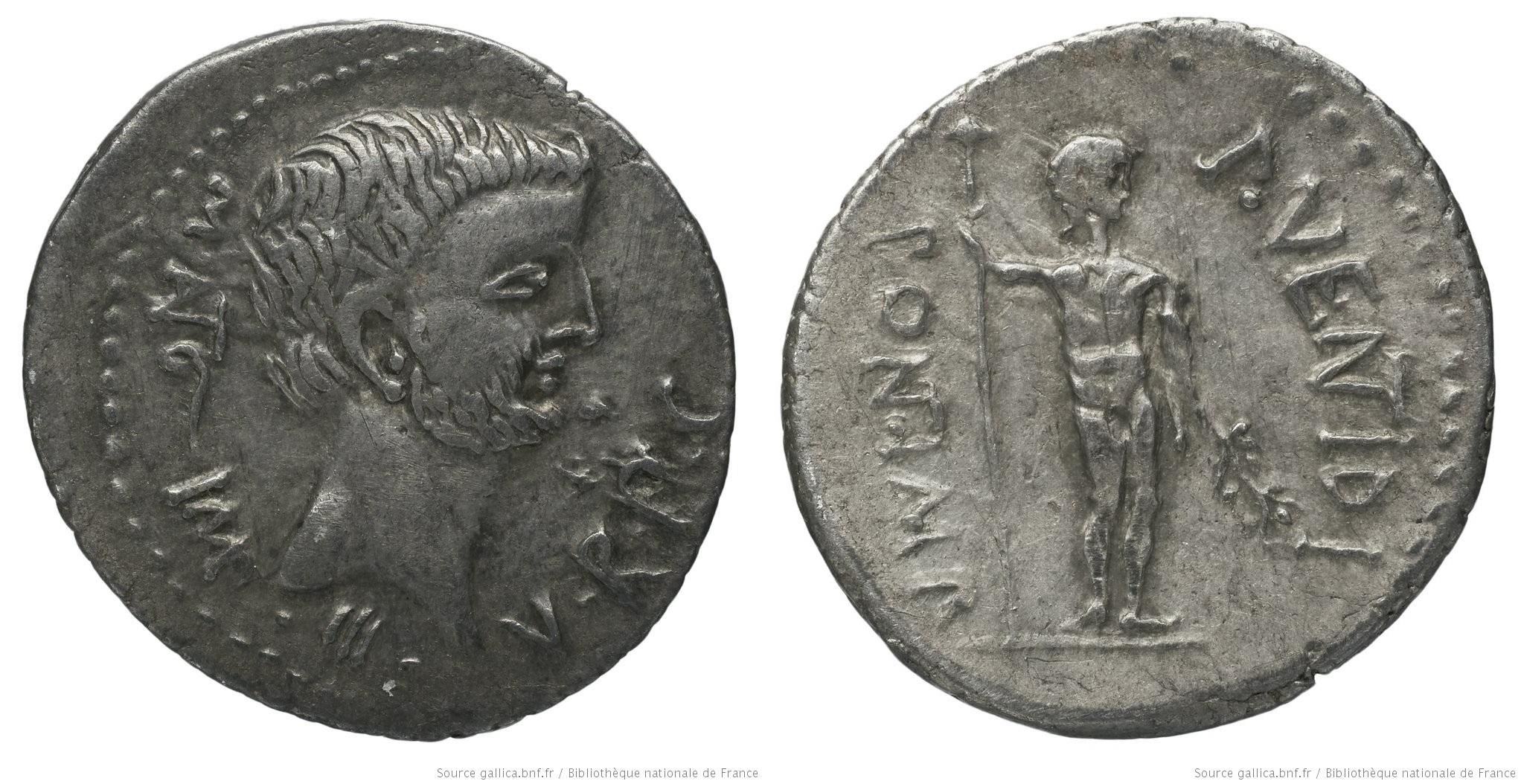 1725AN – Denier Marc Antoine – Publius Ventidius Bassus