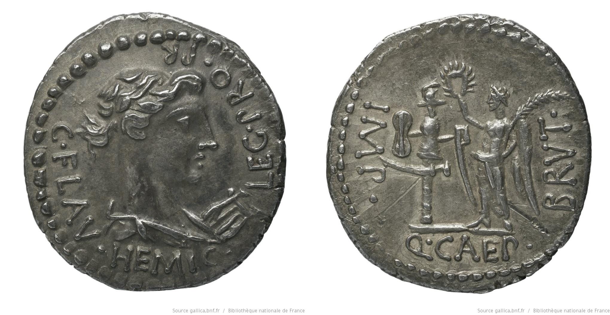 You are currently viewing 1646JU – Denier Brutus – C. Flavius Hemicillus