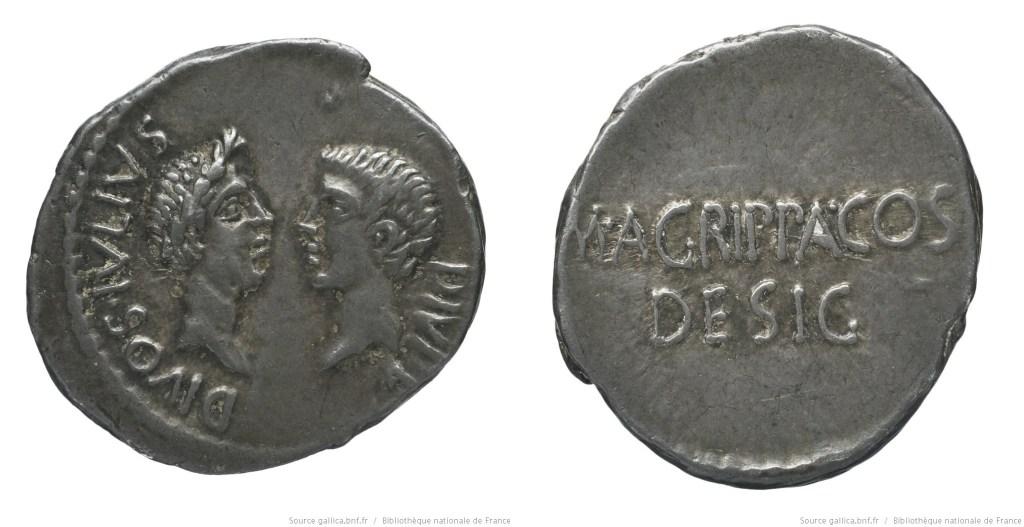 1731JU – Denier Octave et Agrippa – Marcus Vipsanius Agrippa
