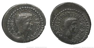 1719AN – Denier Marc Antoine et Octave – Marcus Antonius