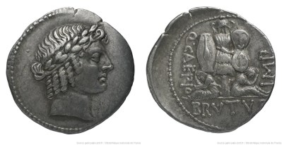 1645JU – Denier Brutus – Quintus Junius Brutus