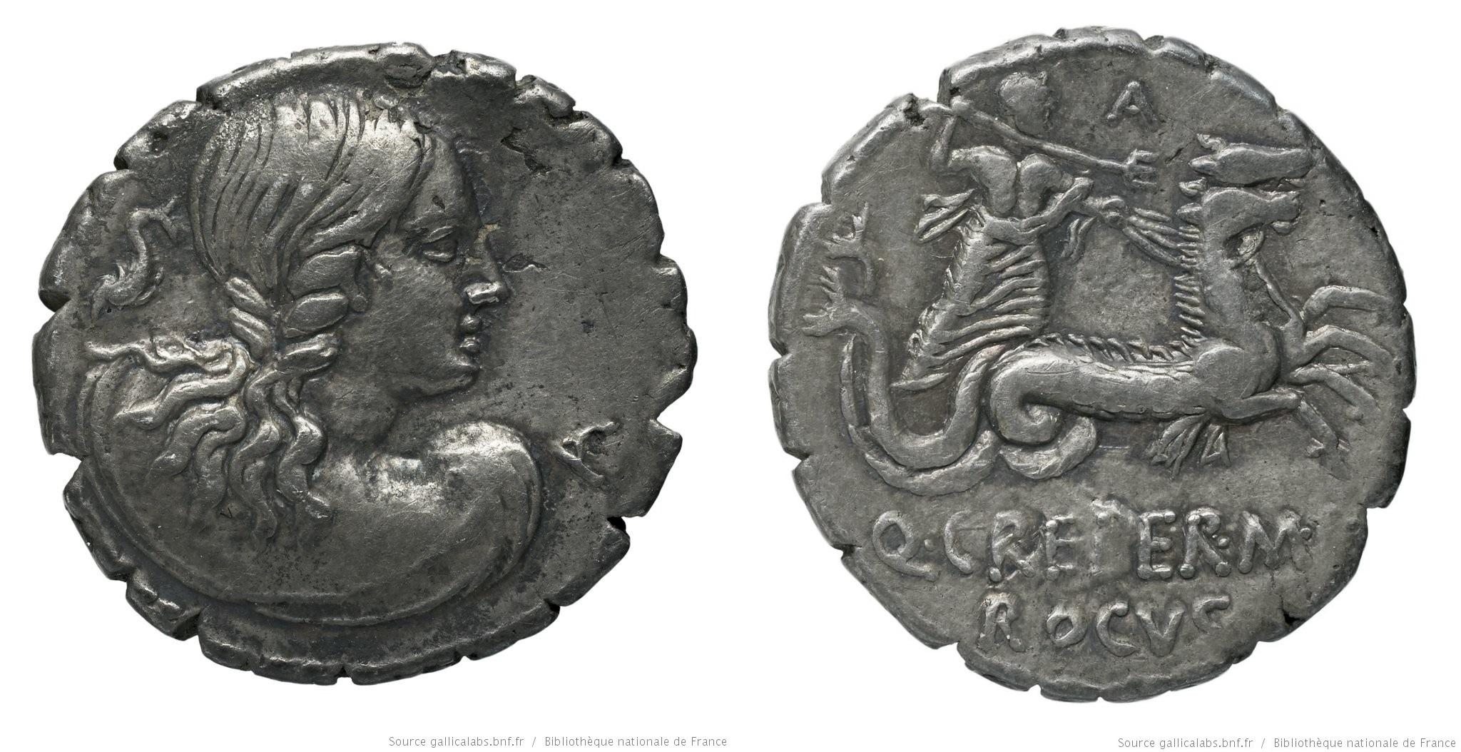1342CR – Denier Serratus Creperia – Quintus Creperius Rucus