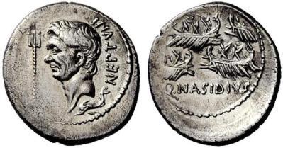 1552PO – Denier Sextus Pompée _ Quintus Nasidius