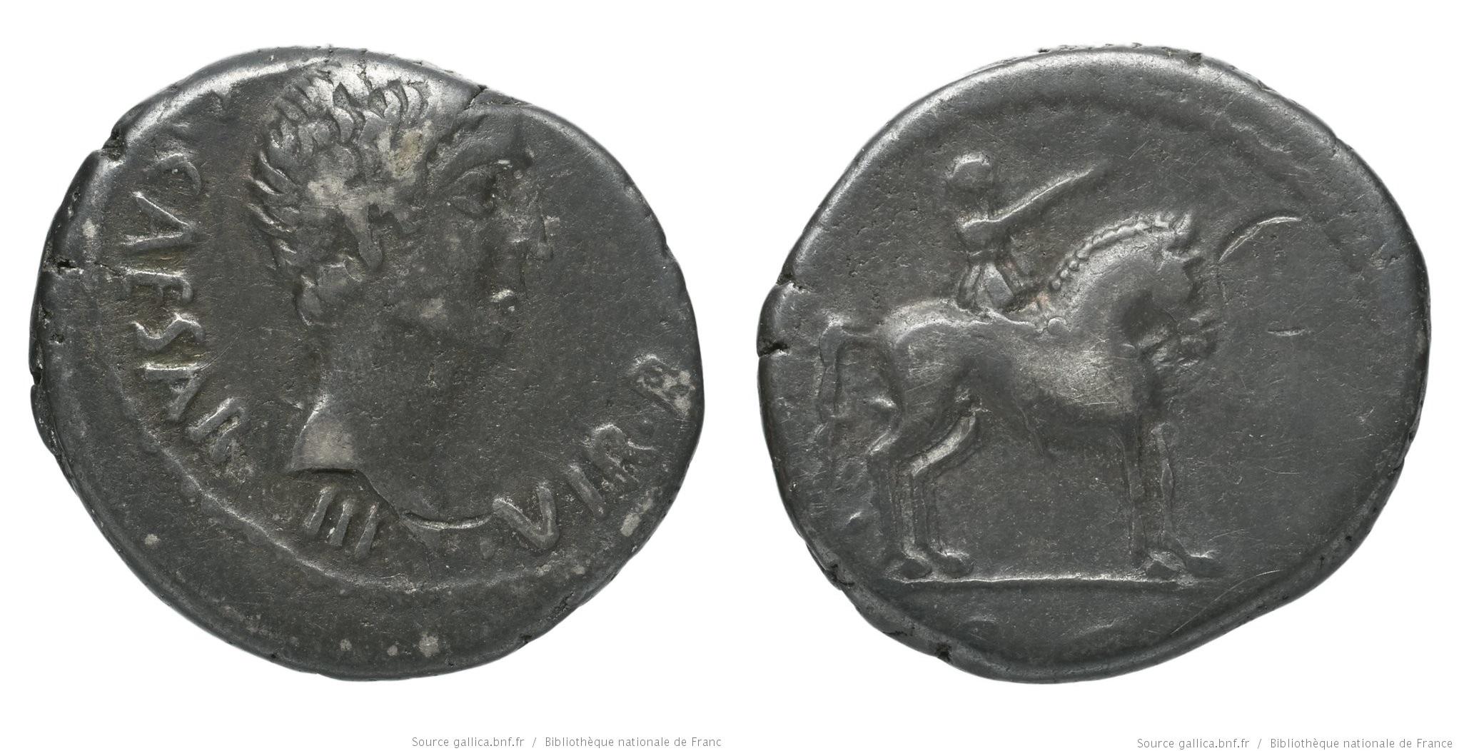 1572JU – Denier Octave – Caius Julius Cæsar Octavianus