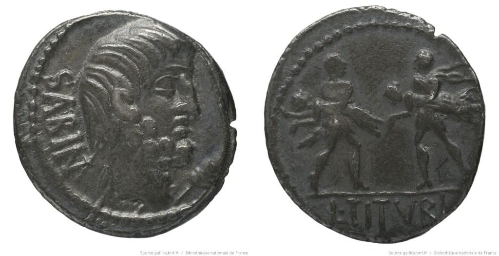1231TI – Denier Tituria – Lucius Titurius Sabinus