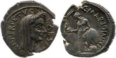 Read more about the article 1537JU – Denier César – Caius Cossutius Maridianus