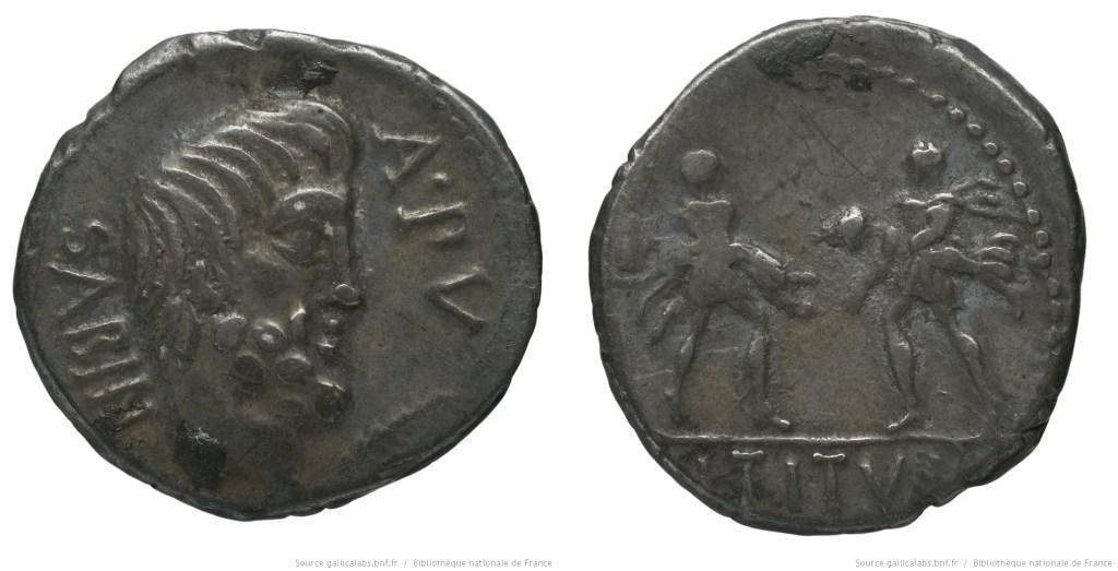 1232TI – Denier Tituria – Lucius Titurius Sabinus