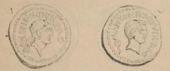 Aureus Marc Antoine et Lépide _ RRC 492/2
