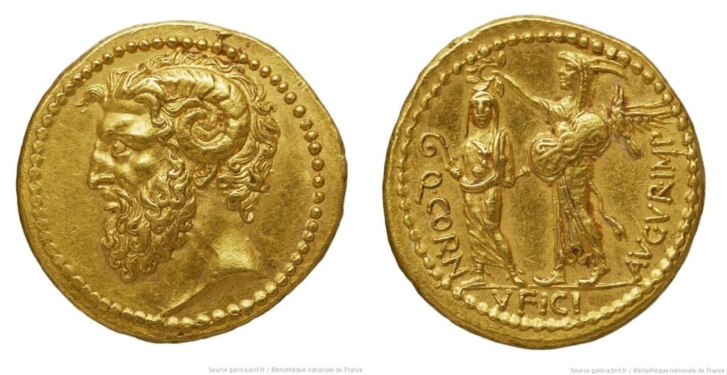 1660CO – Aureus Cornuficia – Quintus Cornuficius
