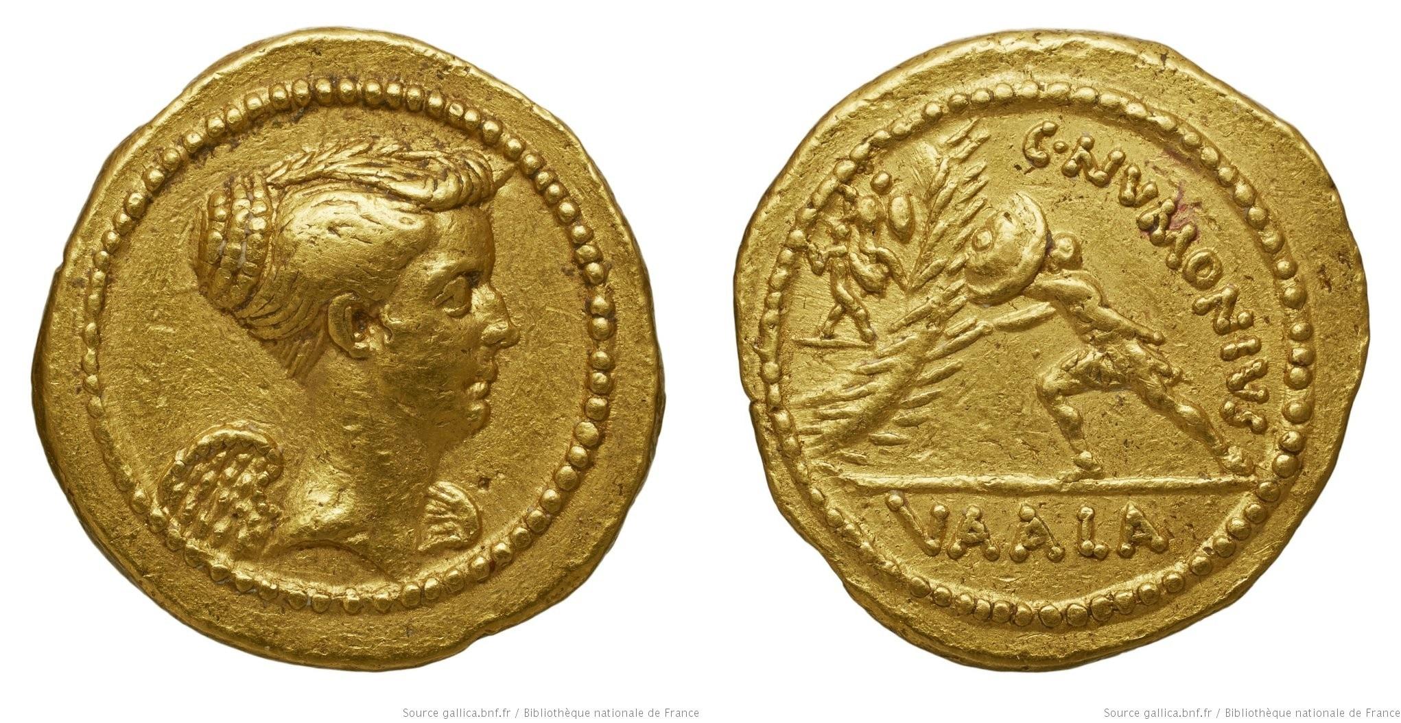 You are currently viewing 1676NU – Aureus Numonia – Caius Numonius Vaala