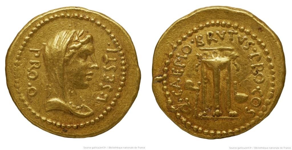 1641JU – Aureus Brutus – Lucius Sestius Quirinalis
