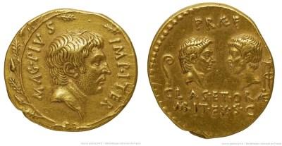1666PO – Aureus Sextus Pompée – Sextus Pompeius Magnus