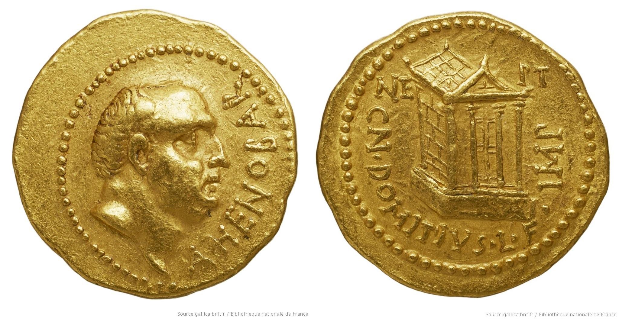 You are currently viewing 1696DO – Aureus Domitia _ Domitius Ahenobarbus