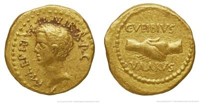 1588AE – Aureus Lépide – Caius Vibius Varus