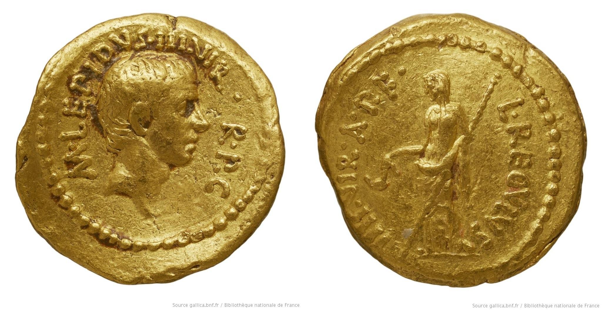 You are currently viewing 1579AE – Aureus Lépide – Lucius Livineius Regulus